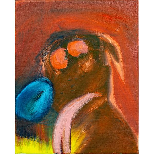 ANETA KAJZER<br/>Hundsmüde, 2020, oil on canvas, 40 x 32 cm