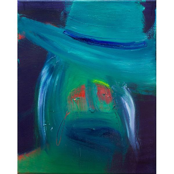 ANETA KAJZER<br/>Hutmacher, 2020, oil on canvas, 40 x 32 cm