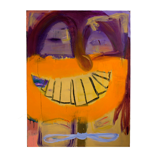 ANETA KAJZER<br/>Just smile, 2019, oil on canvas, 200 x 150 cm
