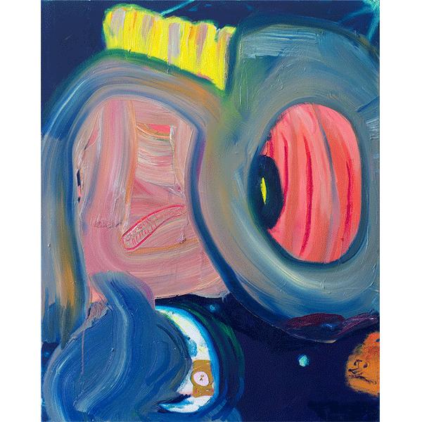 ANETA KAJZER<br/>Alienlove, 2018, oil and acrylic on canvas, 100 x 80 cm