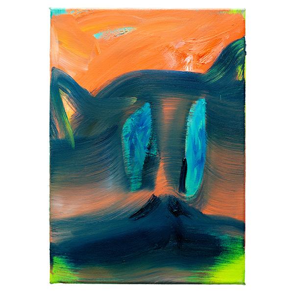 ANETA KAJZER<br/>Lemur, 2020, oil on canvas, 42 x 30 cm
