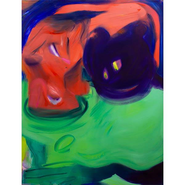 ANETA KAJZER<br/>Lustmolch, 2020, oil on canvas, 170 x 130 cm