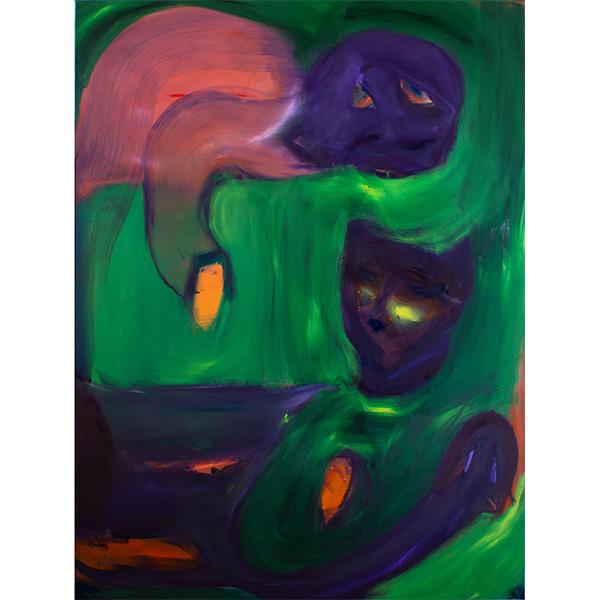 ANETA KAJZER<br/>Missgunst, 2020, oil on canvas, 220 x 165 cm