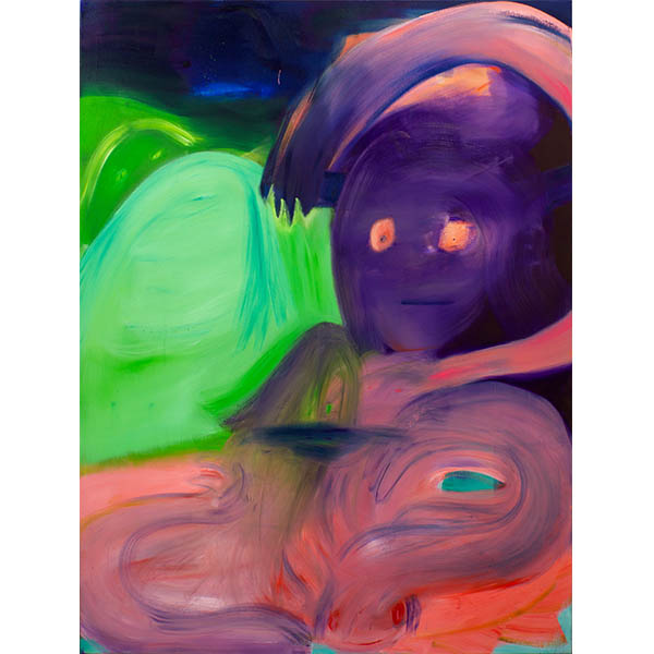 ANETA KAJZER<br/>On The Dancefloor, 2020, oil on canvas, 200 x 150 cm