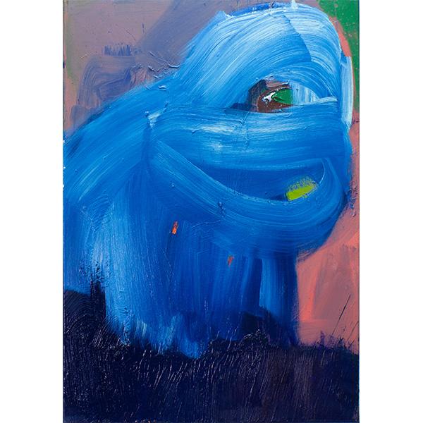 ANETA KAJZER<br/>One Eyed Monkey, 2020, oil on canvas, 100 x 70 cm