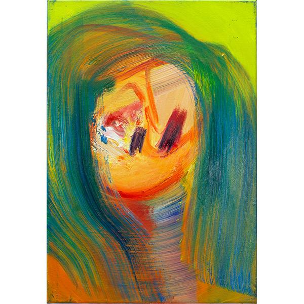 ANETA KAJZER<br/>Optimistisch bleiben, 2020, oil on canvas, 60 x 42 cm