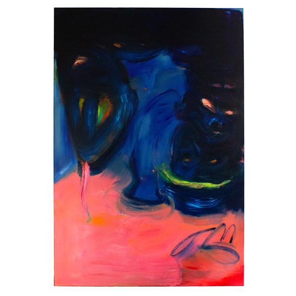 ANETA KAJZER<br/>Pink Ocean, 2020, oil on canvas, 300 x 200 cm