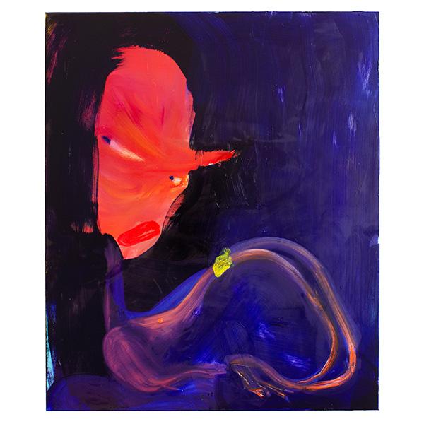ANETA KAJZER<br/>Poser, 2020, oil on canvas, 120 x 100 cm