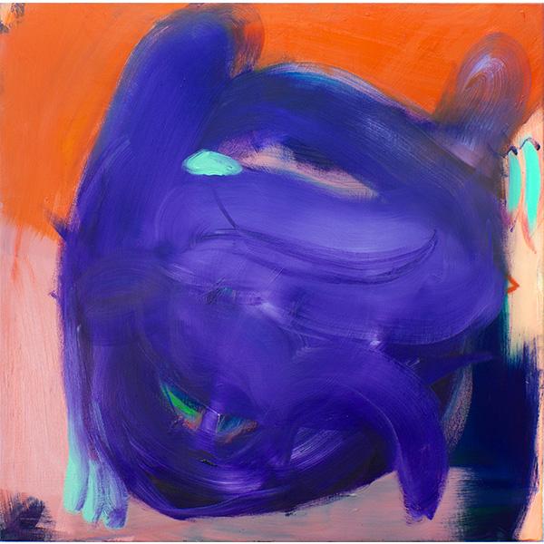 ANETA KAJZER<br/>Puppies, 2020, oil on canvas, 100 x 100 cm