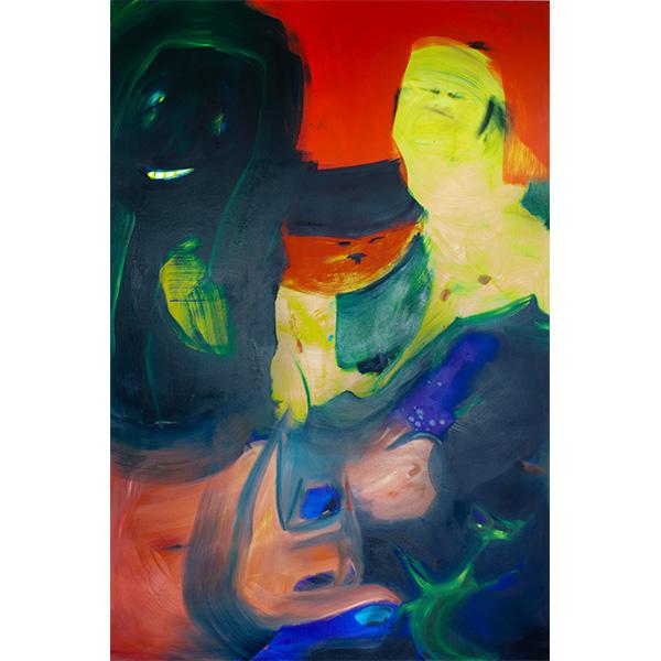 ANETA KAJZER<br/>Ringe Ringe Reihe, 2020, oil on canvas, 300 x 200 cm