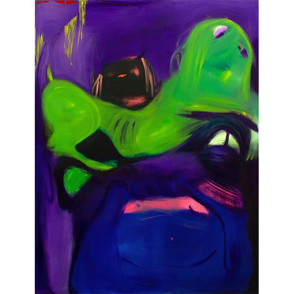 ANETA KAJZER<br/>Skinny Bitches, 2020, oil on canvas, 170 x 130 cm