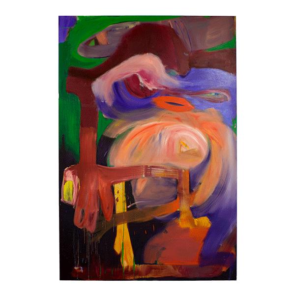 ANETA KAJZER<br/>Space Invaders, 2019, oil on canvas, 300 x 200 cm