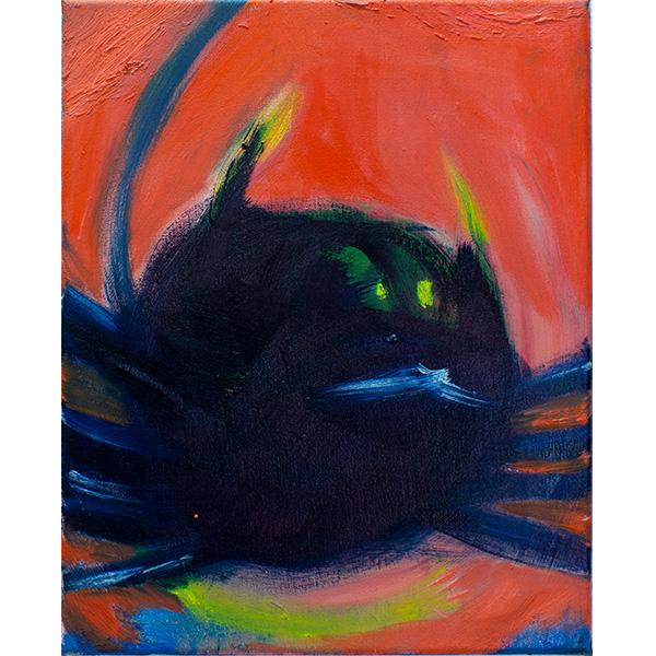 ANETA KAJZER<br/>Spinne, 2020, oil on canvas, 40 x 32 cm