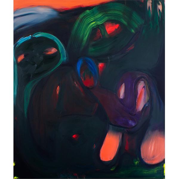 ANETA KAJZER<br/>Wer darf auf die Arche, 2020, oil on canvas, 200 x 170 cm