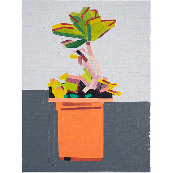 GUY YANAI<br />Plant on Path, 2019, oil on canvas, 40 x 30 cm