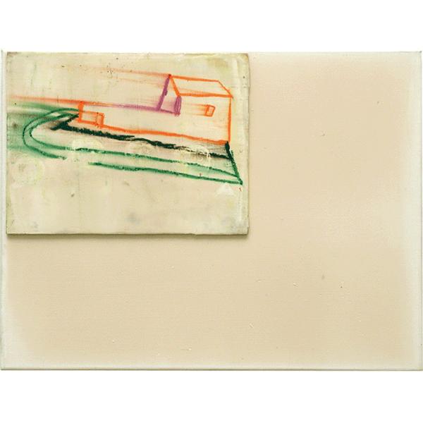 OLAV CHRISTOPHER JENSSEN<br/>Territorium: Episcopal, 2000, acrylic, wax on wood on canvas, 32 x 42 cm