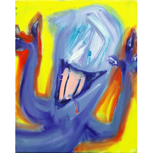 ANETA KAJZER<br/>Durchgeknallt, 2019, oil on canvas, 40 x 32 cm